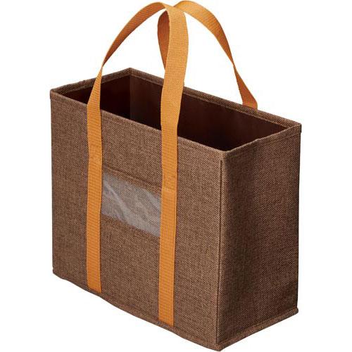 「カウコレ」プレミアム ミーティングバッグ引出し収納サイズ 茶10個