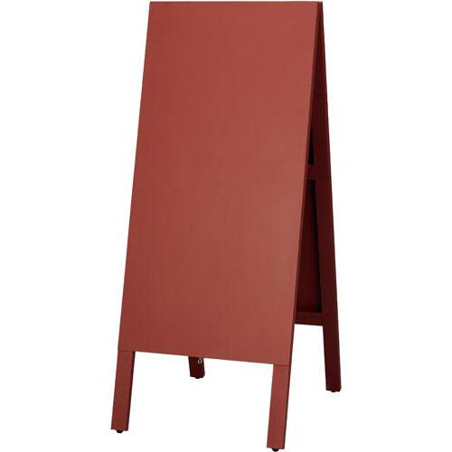 ワールドクラフト 木製案内板 ダークレッド 450×1105mm