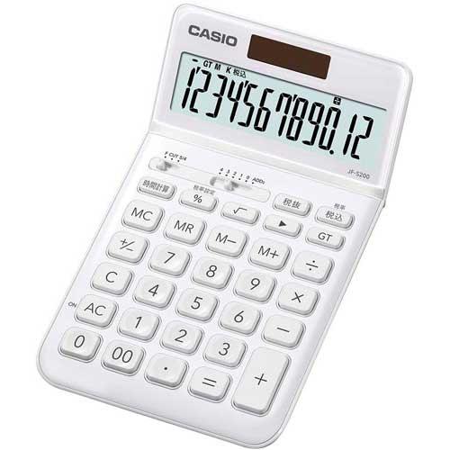 カシオ スタイリッシュ電卓 ホワイト×3