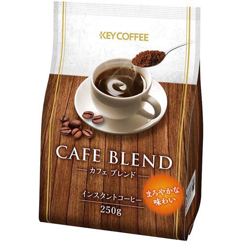 キーコーヒー たっぷり飲めるインスタントコーヒー 250g×12