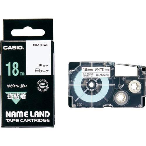 商品合計金額3000円 税込 格安 価格でご提供いたします 以上送料無料 カシオ ネームランド 強粘着白色テープ 18mm 黒文字 18mm CASIO !超美品再入荷品質至上! NAMELAND ラベルプリンタ オフィス用品