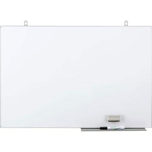 日学 スリム枠ホーローホワイトボード 600×890mm