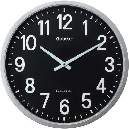 キングジム ザラージ 大型電波時計 黒文字盤