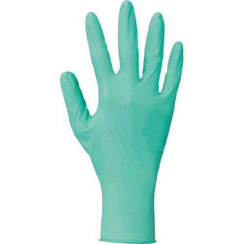 川西工業 ニトリル使いきり手袋 粉無グリーンS250枚×10