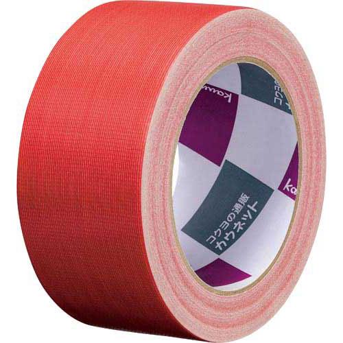 「カウコレ」プレミアム 手が痛くなりにくいカドなしカラー布テープ赤 90巻