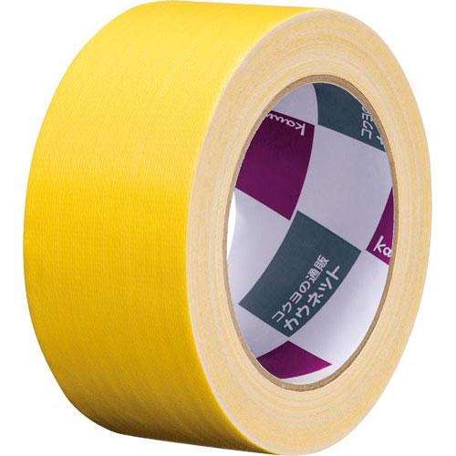 「カウコレ」プレミアム 手が痛くなりにくいカドなしカラー布テープ黄 90巻
