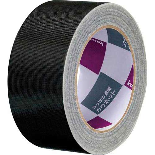 「カウコレ」プレミアム 手が痛くなりにくいカドなしカラー布テープ黒 90巻