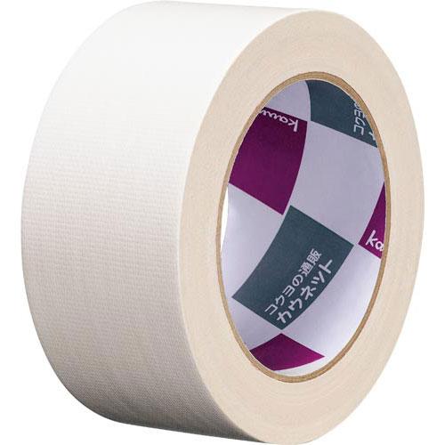 「カウコレ」プレミアム 手が痛くなりにくいカドなしカラー布テープ白 30巻