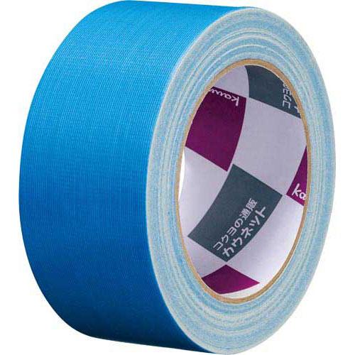 「カウコレ」プレミアム 手が痛くなりにくいカドなしカラー布テープ青 90巻