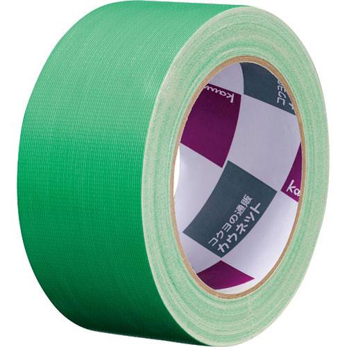 「カウコレ」プレミアム 手が痛くなりにくいカドなしカラー布テープ緑 90巻