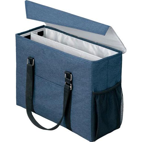 「カウコレ」プレミアム 外出にも使えるミーティングバッグ 紺×灰 3個