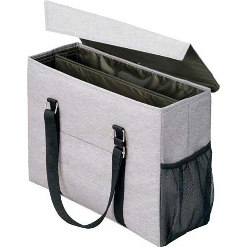 「カウコレ」プレミアム 外出にも使えるミーティングバッグ 灰×緑 3個