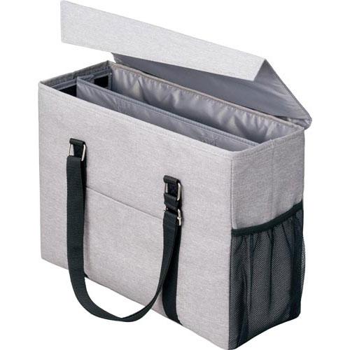 「カウコレ」プレミアム 外出にも使えるミーティングバッグ 灰×灰 3個