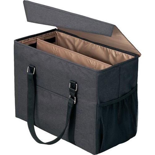 「カウコレ」プレミアム 外出に使えるミーティングバッグラージ黒×薄茶3個