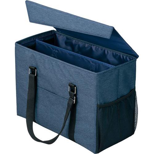「カウコレ」プレミアム 外出にも使えるミーティングバッグラージ紺×紺 3個