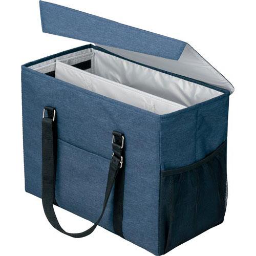 「カウコレ」プレミアム 外出にも使えるミーティングバッグラージ紺×灰 3個