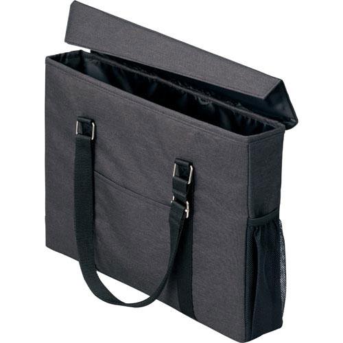 「カウコレ」プレミアム 外出にも使えるミーティングバッグスリム黒×黒10個