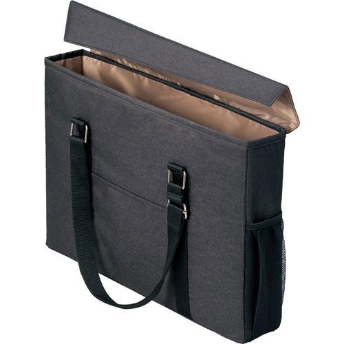 「カウコレ」プレミアム 外出に使えるミーティングバッグスリム黒×薄茶10個