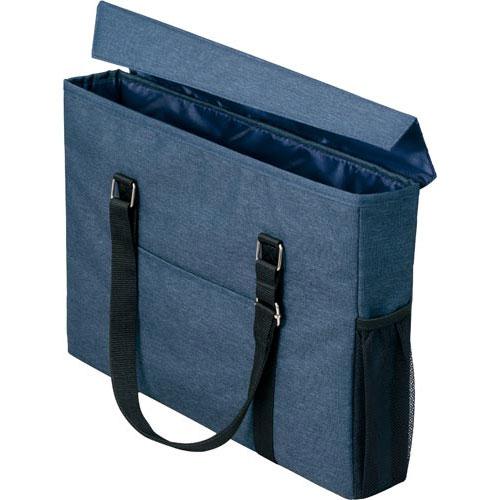 「カウコレ」プレミアム 外出にも使えるミーティングバッグスリム紺×紺 3個