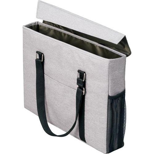 「カウコレ」プレミアム 外出にも使えるミーティングバッグスリム灰×緑 3個