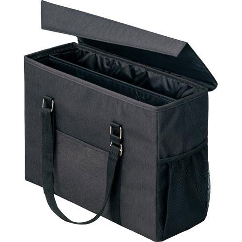 「カウコレ」プレミアム 外出にも使えるミーティングバッグ 黒×黒 3個