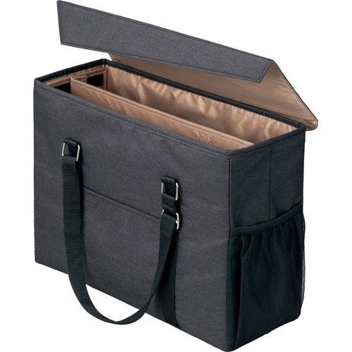 「カウコレ」プレミアム 外出に使えるミーティングバッグ 黒×薄茶 3個