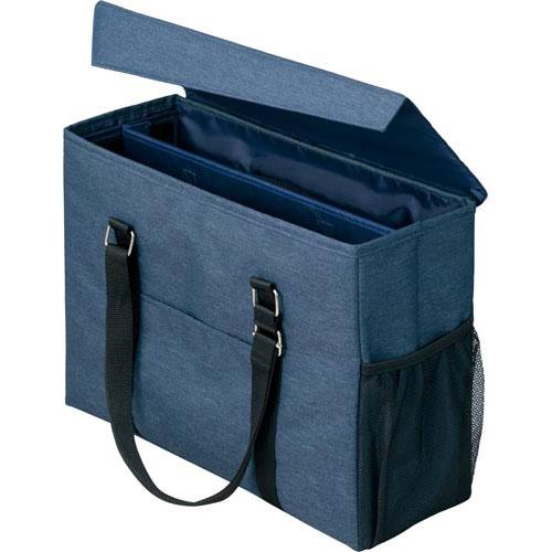 「カウコレ」プレミアム 外出にも使えるミーティングバッグ 紺×紺 3個