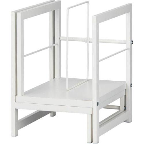「カウコレ」プレミアム Katazukスライド本棚幅215-360白3台
