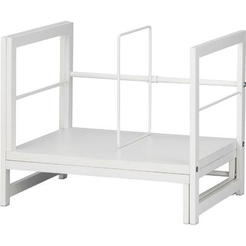 「カウコレ」プレミアム Katazukスライド本棚幅363-656白3台