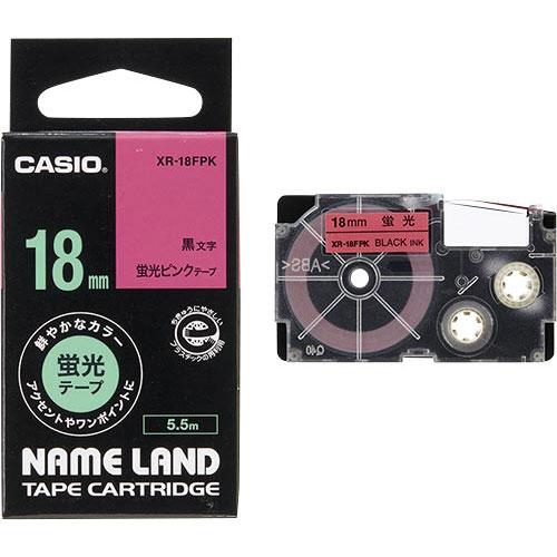 商品合計金額3000円 税込 以上送料無料 カシオ ネームランド 蛍光ピンクテープ 18mm 18mm ラベルプリンタ 黒文字 業界No.1 オフィス用品 春の新作続々 CASIO NAMELAND