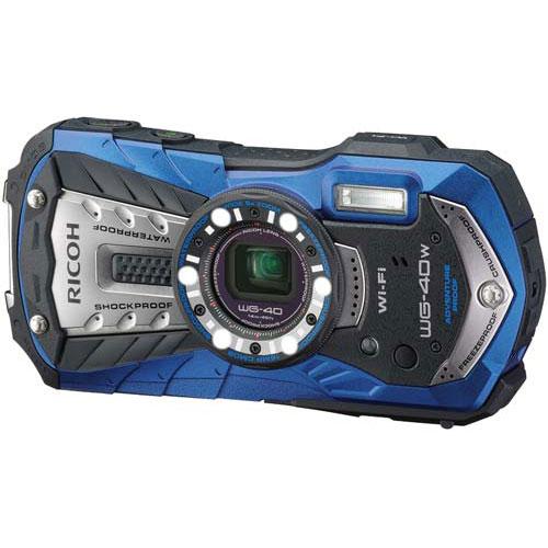 リコー 防じん防水カメラ WG-40W ブルー Wi-Fi