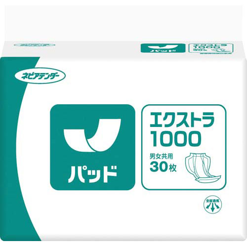 王子ネピア ネピアテンダーパッドエクストラ1000 30枚×4【取寄商品】