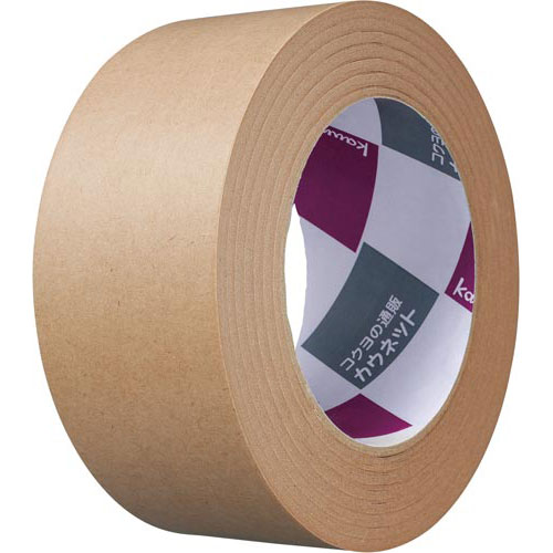 商品合計金額3000円 税込 以上送料無料 ガムテープ クラフトテープ 紙テープ 新登場 梱包資材 カウネット 50巻 梱包テープ 商い 1ele