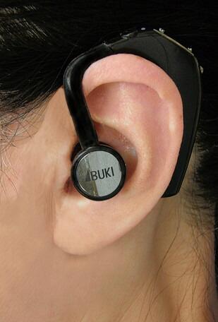 【送料無料】日本製 骨伝導拡聴器「ボン・ボイス」左耳用 耳掛け式 集音器 骨伝導集音器