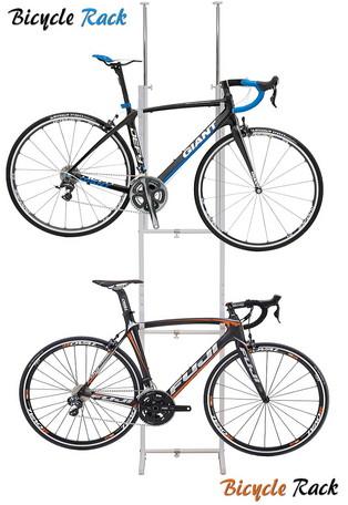 【送料無料】室内用/ツッパリ式自転車ラック 2台用 SB-01 ホワイト 自転車スタンド サイクルラック ディスプレイスタンド サイクルスタンド
