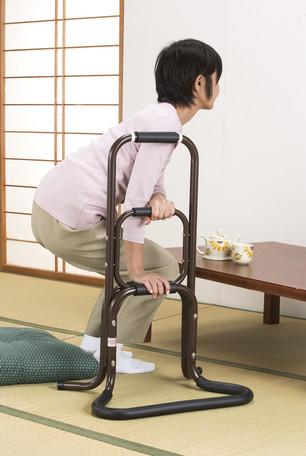 【送料無料】アルミ製らくらく立ち上がり手すり 2個 日本製 補助手すりサポート
