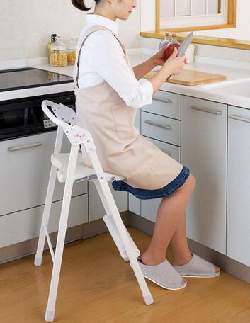 【送料無料】日本製 ステップアップチェア キッチンチェア ステップ台 脚立 脚立 踏台 作業台 ステップ台 作業台, タカトクパーツ:52613696 --- sunward.msk.ru