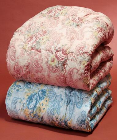 【送料無料】日本製 ボリュームウール混掛布団2色組 (ピンク・ブルー) シングル 防ダニ・抗菌防臭加工 掛け布団