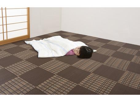 3980円(税込)以上で送料無料/日本アトピー協会推薦カーペット ブラウン 本間8畳 (ウィード) じゅうたん 絨毯 マット ラグ