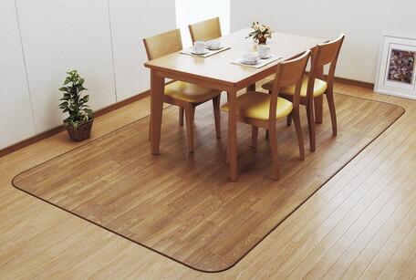 【送料無料】日本製<東リ>ダイニングカーペットウッド 185×250cm じゅうたん 絨毯 フローリングカーペット マット クッションフロアラグ