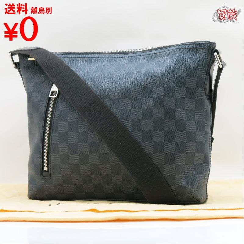 LOUIS VUITTON ルイヴィトン ミックPM N41211 グラフィット ダミエ ショルダーバッグ メンズ 【正規品】【中古】【美品】 【買蔵】