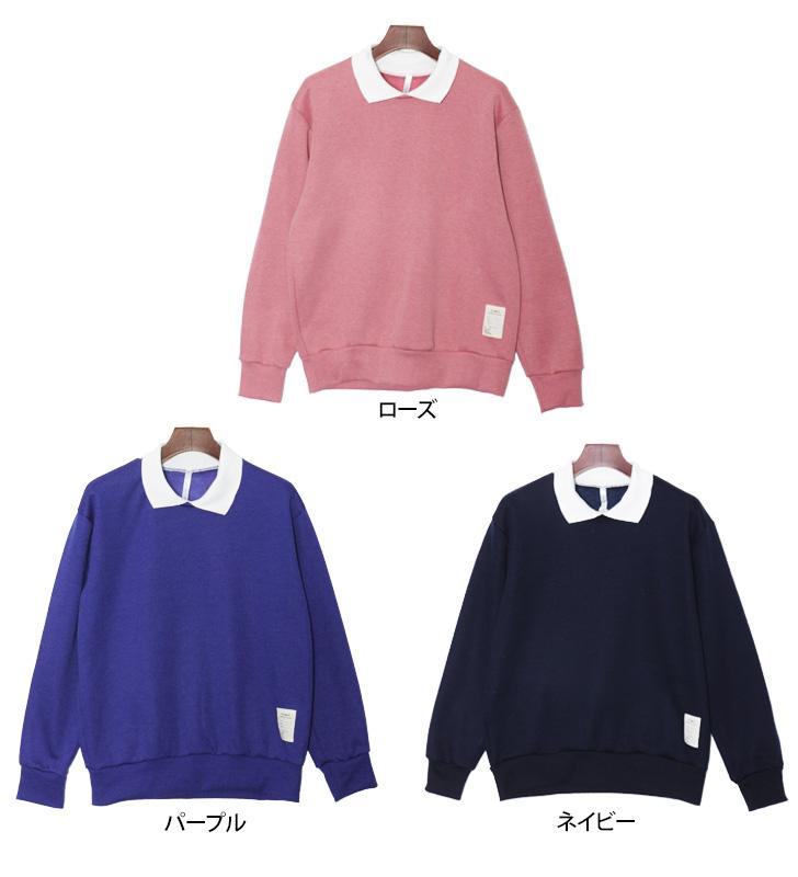 背刷领分层回刷的颜色 fakelayerd 色长袖套头衫教练简单平原的风格运动衫妇女上衣运动衫板油吗?,是一个温暖的冬天