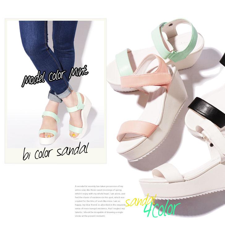 双色厚底凉鞋凉鞋妇女底的楔鞋底的颜色踝关节表带鞋鞋运动 sposati 白色舒适凉鞋黑色柔和春夏季乐趣下巴 7.6 厘米