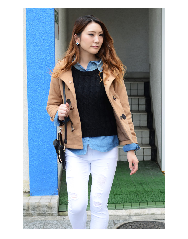 kawa | Rakuten Global Market: Short length basic Duffle coat outer ...