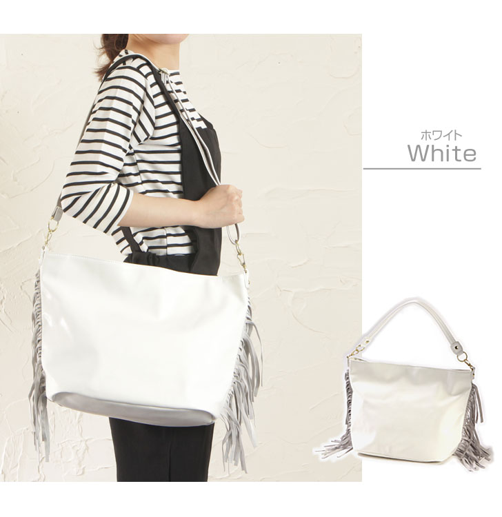 Legato Largo suede 2 way fringe shoulder bag