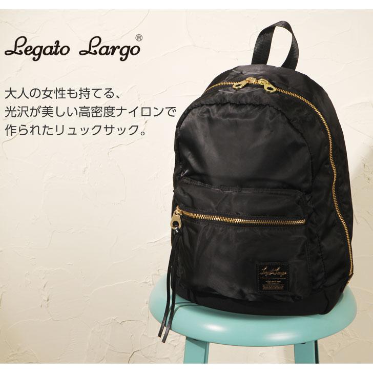 可爱 Legato 拉戈 Legato 拉戈高密度尼龙保安队囊背包背包女士女士包成人学校通勤大体积潜水员材料 a4 LH-B1021