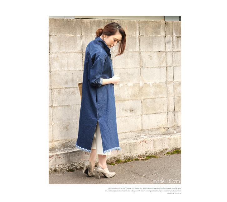 kawa | Rakuten Global Market: Cutoff denim long Jacket-Women's ...