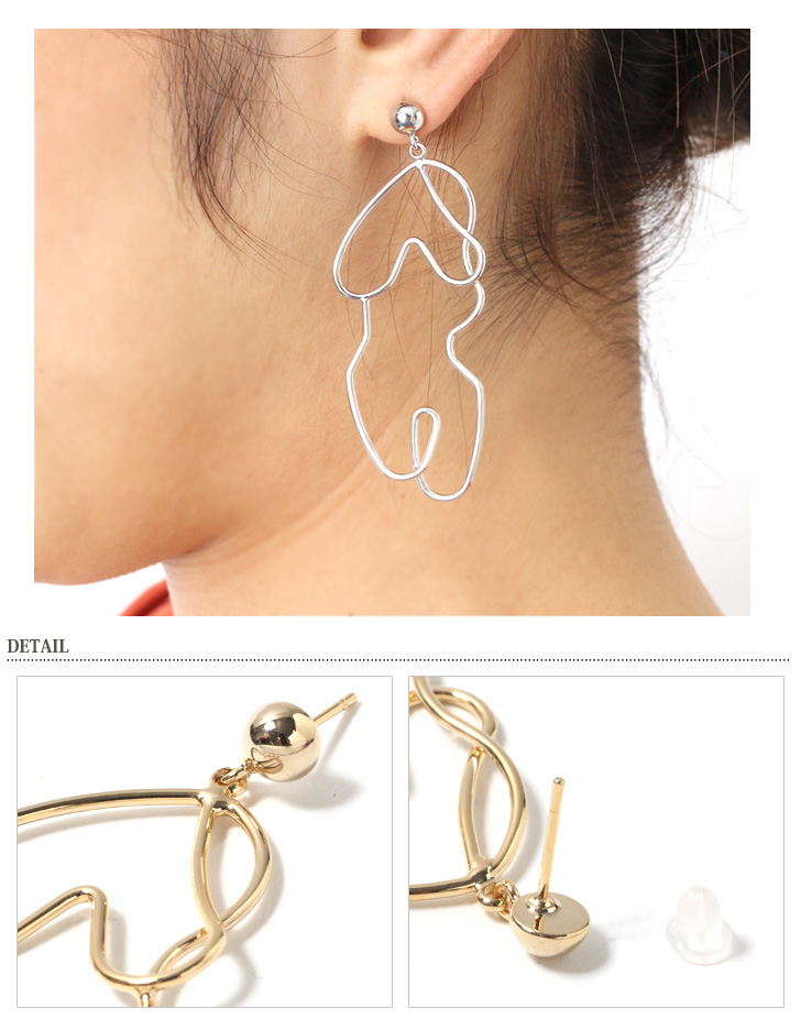 lady global by take in store is modelled what body coordinates en woman to of stylish easy design for unique silhouette earrings the item that rakuten it pierced kawa market which