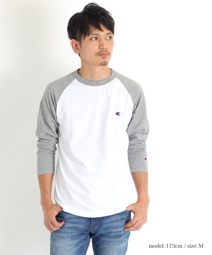 8cf36bce2 ○Champion champion raglan sleeves Longus Reeve T-shirt C3-P402 Raglan  sleeves Longus Reeve T-shirt of the Champion basic series.