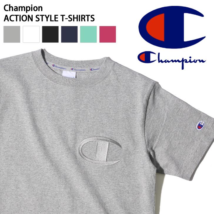 Kawa Champion Champion T Shirt Big Logo Embroidery Action Style Men